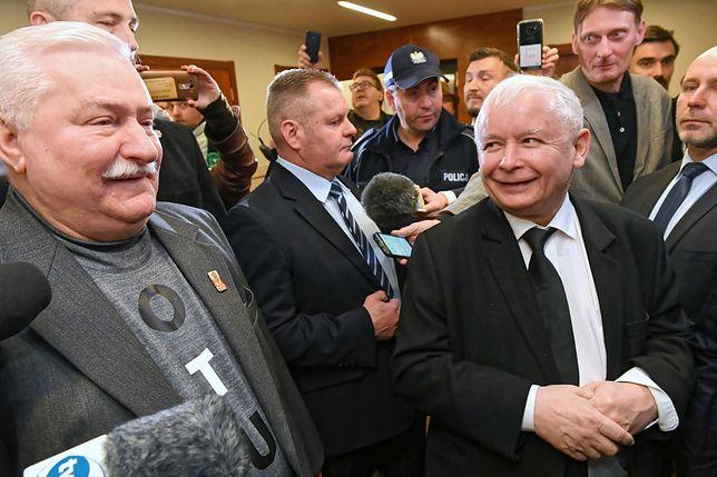 Prezes PiS Jarosław Kaczyński i były prezydent Lech Wałęsa (grudzień 2018)