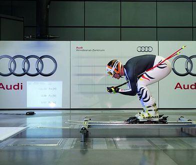 Skoczkowie narciarscy korzystają z obiektów Audi