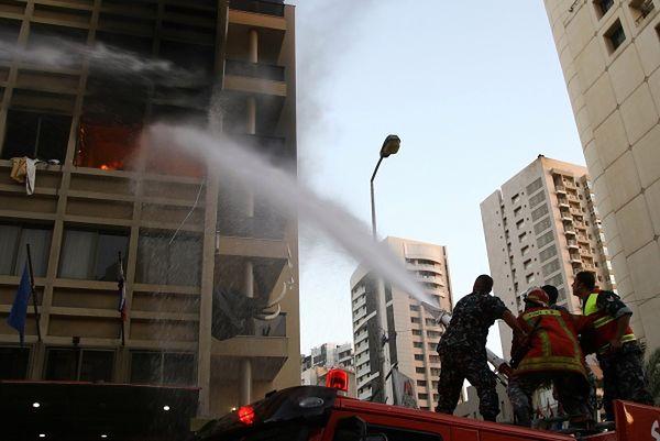 Zamachowiec-samobójca wysadził się w powietrze w hotelu w Bejrucie