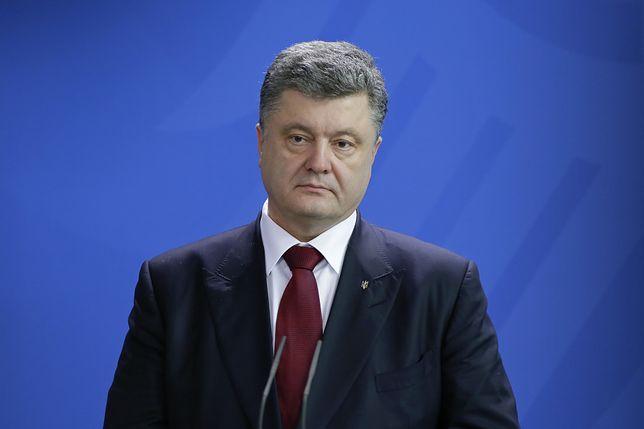 Kijów. Atak na byłego prezydenta Ukrainy Petra Poroszenkę