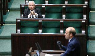 Borys Budka i Jarosław Kaczyński w Sejmie