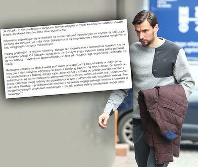 Jarosław Bieniuk wydał oświadczenie ws. popełnienia przestępstwa seksualnego