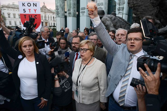 Protesty w obronie Sądu Najwyższego odbywały się w całej Polsce