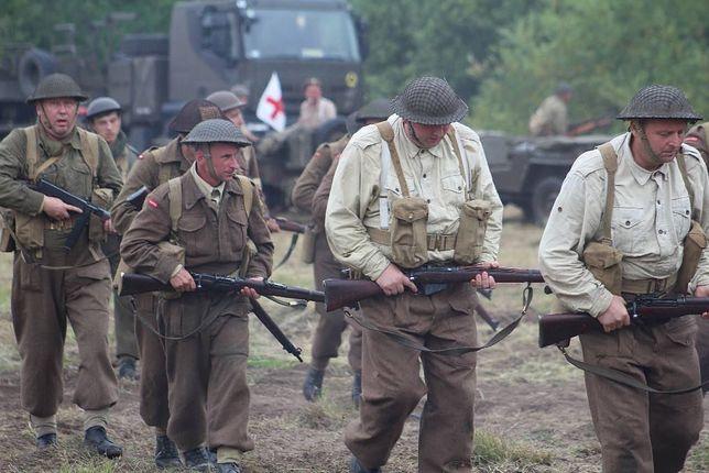 Zdjęcie z rekonstrukcji bitwy