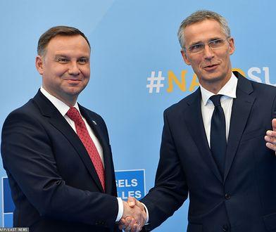 Prezydent Andrzej Duda oraz Sekretarz Generalny NATO Jens Stoltenberg