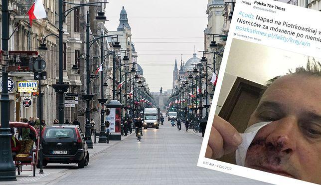 Pobity w Łodzi obywatel Niemiec.