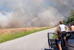 Kłęby dymu nad Wrocławiem. Potężny pożar
