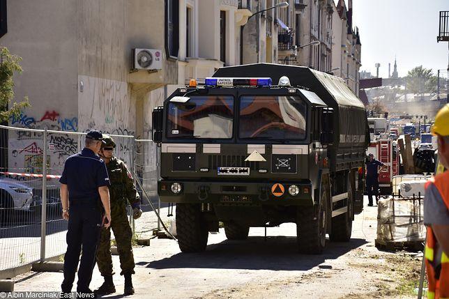 Niewybuchy znalezione w Krakowie zostały przewiezione na poligon