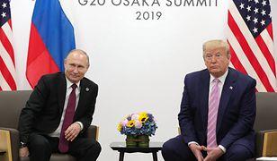 """Trump żartuje podczas spotkania z Putinem. """"Nie wtrącaj się"""""""