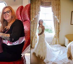 Schudła 3 rozmiary, żeby zmieścić się w suknię ślubną. Mąż jej nie poznaje