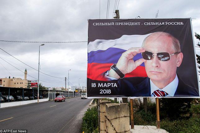 Władimir Putin prowadzi globalną kampanię wyborczą. Plakaty pojawiły się nawet w Libanie
