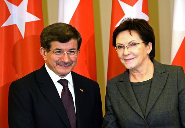 Ahmet Davutoglu i Ewa Kopacz