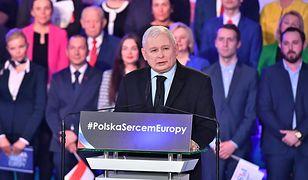 Wrocław. Jarosław Kaczyński na konwencji PiS