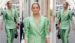 LOOK OF THE DAY: Marion Cotillard w pistacjowym garniturze oversize