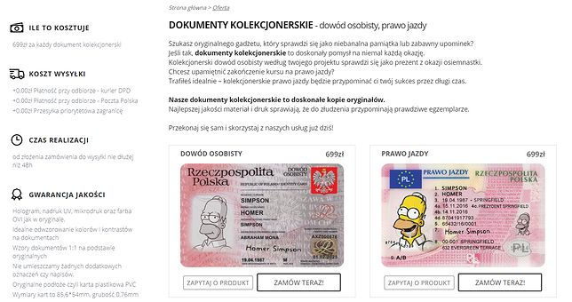 Dowody kolekcjonerskie - w teorii nielegalne, w praktyce wciąż można je bardzo łatwo kupić w sieci.