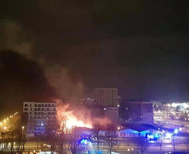 Warszawa. Pożar w Lidlu na Kasprowicza, fot. Warszawskie Bielany - Facebook