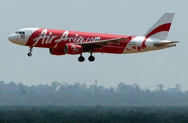 Samolot malezyjskich tanich linii lotniczych AirAsia