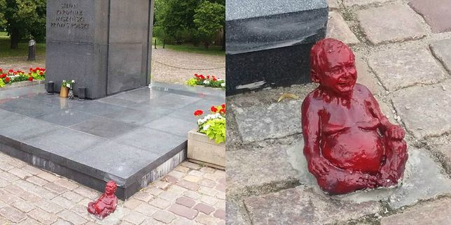 Na Krakowskim Przedmieściu pojawiła się nietypowa instalacja. Przedstawia Jarosława Kaczyńskiego