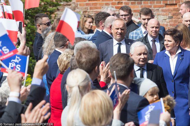 Jarosław Kaczyński i Beata Szydło w Pułtusku.