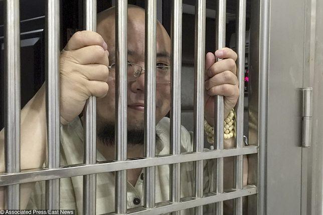 Wu Gan, chiński aktywista i prześmiewca, po aresztowaniu w 2015 r.