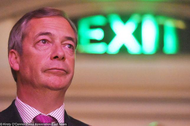 Brexit: Nigel Farage (na zdj.) odpowiada Donaldowi Tuskowi