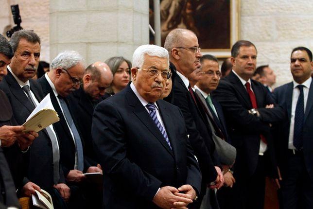 Mahmud Abbas na pasterce w Betlejem.