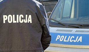 Policja zamknęła ul. Dąbrowskiego.