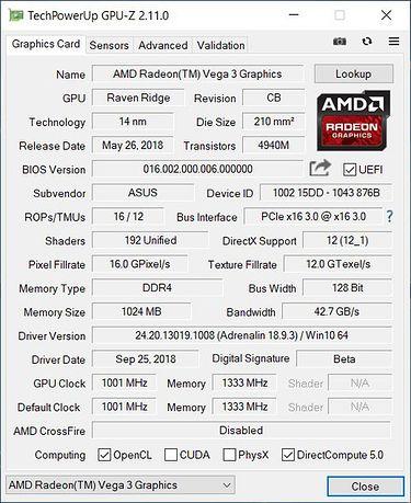Radeon Vega 3