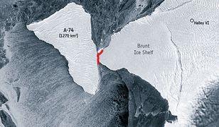 Antarktyda cudem uniknęła zderzenia z ogromną górą lodową