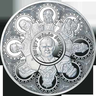 Święty wśród świętych - kanonizacja w srebrze i złocie