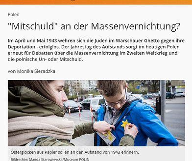 """Niemiecka telewizja: """"Polacy zabili więcej Żydów niż Niemców"""""""