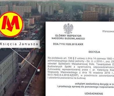 Nadzór budowlany uchylił zgodę na budowę stacji II linii metra