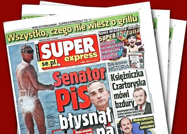 """Polityk na okładce """"Super Expressu"""""""