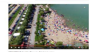 Polska Chorwacja ściąga tłumy. W materiale printscreeny z filmiku AERIALMEDIA.PL z serwisu YouTube.