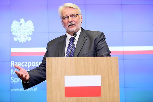 """Waszczykowski o """"historycznym"""" przemówieniu Merkel: To niepotrzebne"""