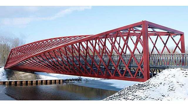 Holandia: nieźle zakręcony most