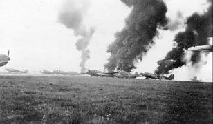 Płonące Junkersy Ju 52