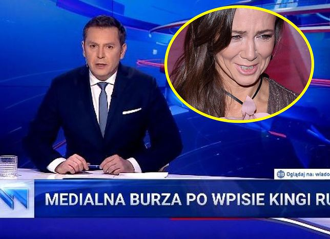 """Kinga Rusin stała się bohaterką prześmiewczego materiału w głównym wydaniu """"Wiadomości"""" TVP"""