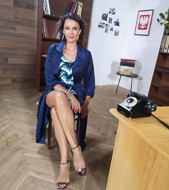 """Anna Popek od niedawna prowadzi nowy program śniadaniowy """"Wstaje dzień"""" na antenie TVP Info"""
