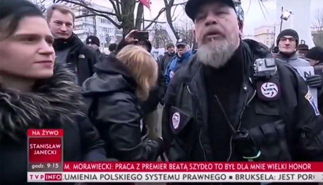 Incydent miał miejsce podczas protestu przed Sejmem 8 grudnia.