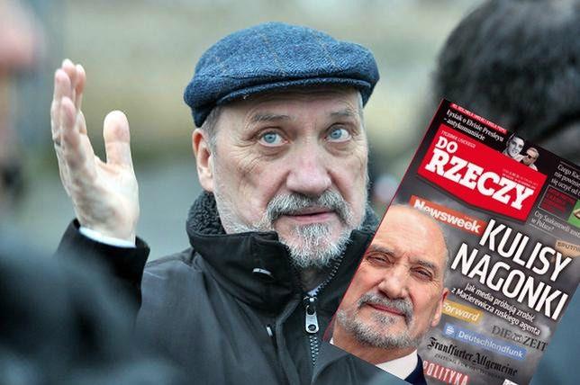 """Antonii Macierewicz/ zdjęcie okładki numery 33/2017 """"Do Rzeczy"""""""