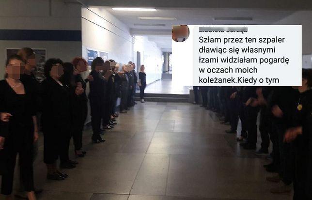 Strajk nauczycieli 2019. Szpaler wstydu w jednej ze szkół