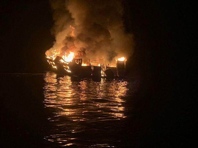 USA. Pożar łodzi koło Los Angeles - co najmniej 8 osób zginęło