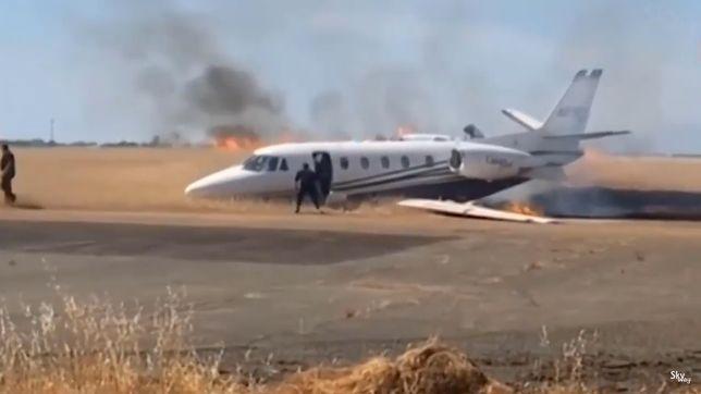 USA. Katastrofa małego samolotu w Kalifornii [WIDEO]