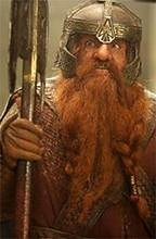 John Rhys-Davies z modelką