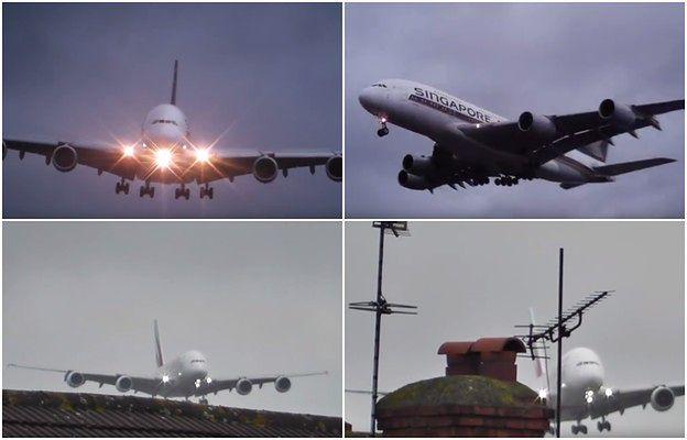 Dramatyczne nagranie potężnego Airbusa lądującego z bocznym wiatrem