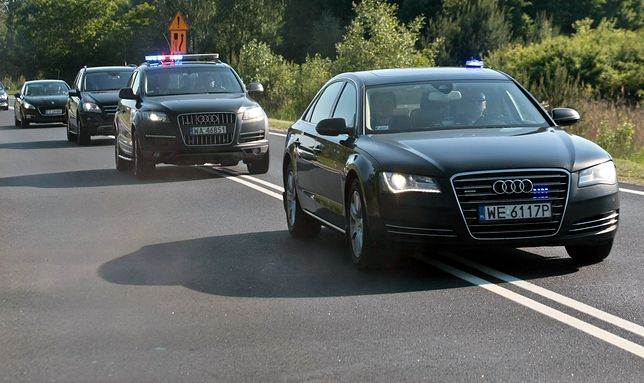 Uprzywilejowane auta należą również do Służby Ochrony Państwa