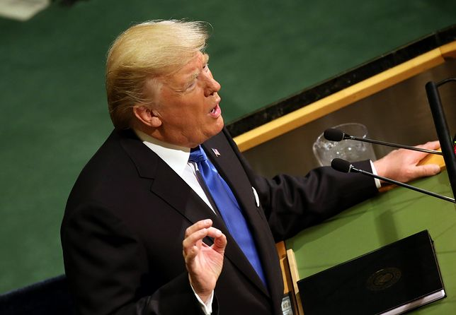 Prezydent Donald Trump przemawia na 72. Sesji ZO ONZ