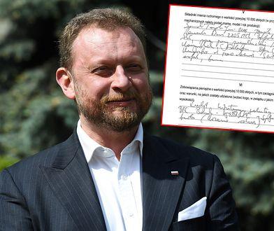 Co Szumowski wpisał w oświadczeniu majątkowym? Odczytanie tego nie jest proste