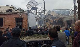 Azerbejdżan, miasto Gandża po ostrzale rakietami wojsk armeńskich.